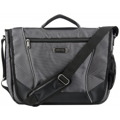 Kenneth Cole Reaction Single Gusset Flapover Computer Messenger in Charcoal