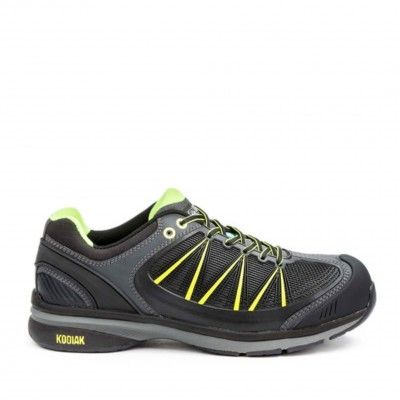 Kodiak Men's K4-100 Safety Shoe in Black and Lime