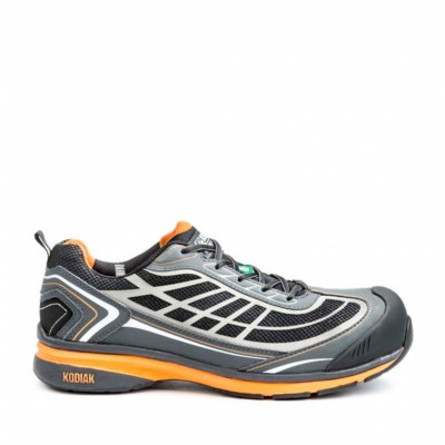 Kodiak Men's K4-110 Safety Shoe in Grey and Orange