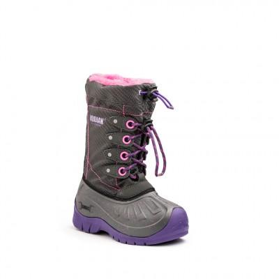 Kodiak Kids Upaco Cali 4 Eyelet Boot in Grey Purple