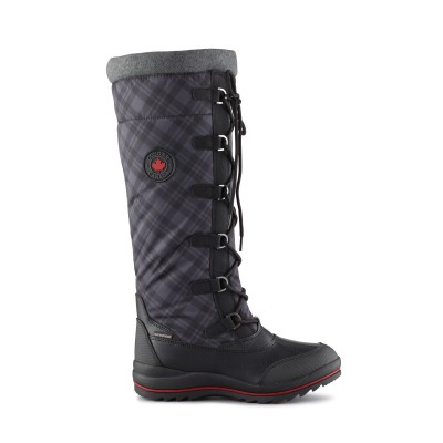Cougar Women's Canuck Winter Boot in Black Plaid