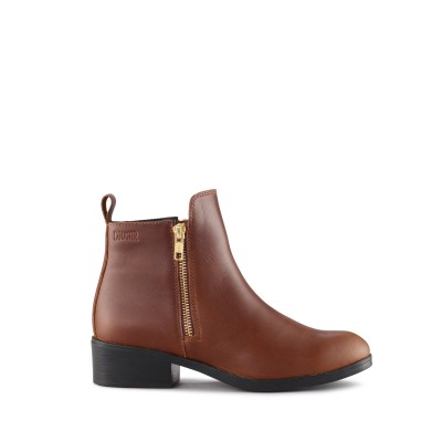 Cougar Women's Connect Ankle Boot in Dark Brown Leather