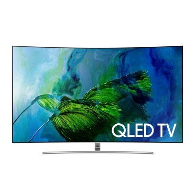 Samsung QN65Q8CAMFXZC 65_ 4K UHD HDR Curved QLED Tizen Smart TV – New 2017 Model
