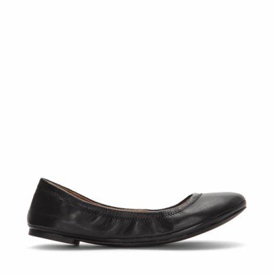 Lucky Brand Women's Emmie Black/Oiled Cabretta Leather M