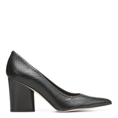 Donald J Pliner Women's Glen Black/Matte Metallic Snake M