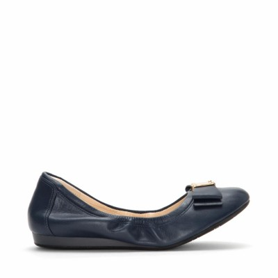 Cole Haan Women Women's Tali Bow Ballet Blazer Blue/Leather-D44053 M