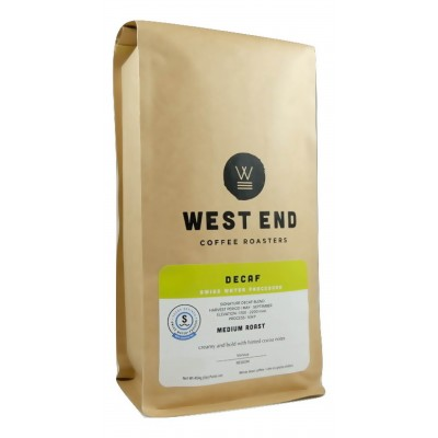 West End Coffee Roasters, DECAF , Medium Roast, Whole Bean 14oz