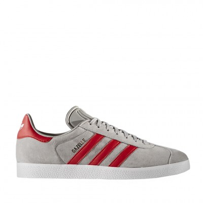 Adidas Men's Gazelle in Grey and Red