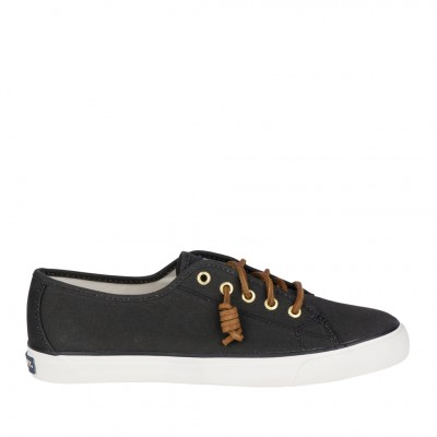 Sperry Women's Seacoast Sneaker in Black