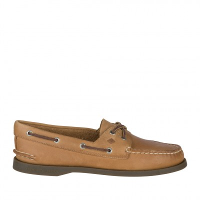 Sperry Womens Authentic Original 2-Eye Boat Shoe in Sahara