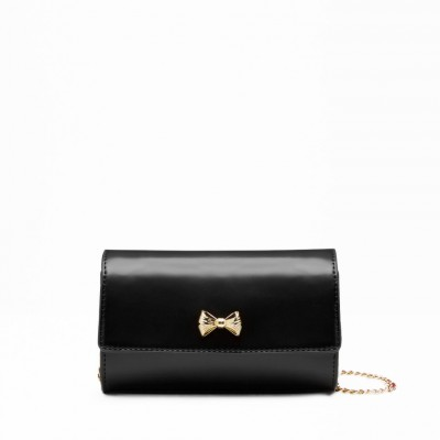 Ted Baker Aelia Micro Bow Cross-Body Bag in Black