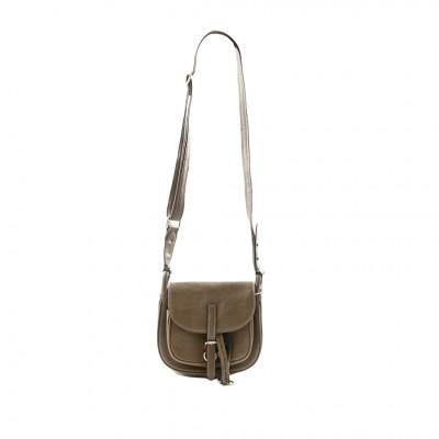 Jeanne Lottie Amber Saddle Cross-Body Bag in Khaki