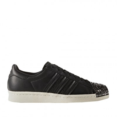 Adidas Women's Superstar 80's Sneaker in Black