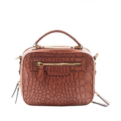 Jeanne Lottie Gegit Cross-Body Bag in Cognac
