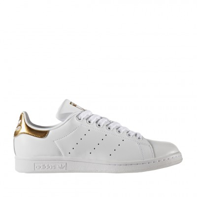 Adidas Women's Stan Smith Sneakers In White and Metallic