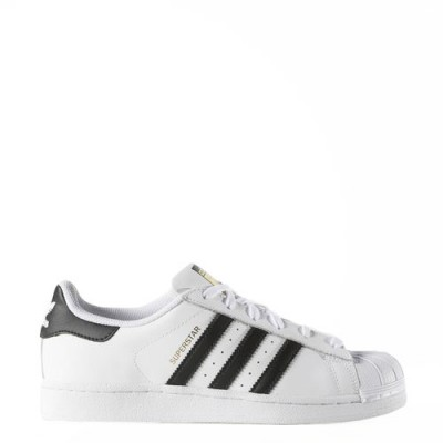 Women's Adidas Superstar Sneaker in White and Black