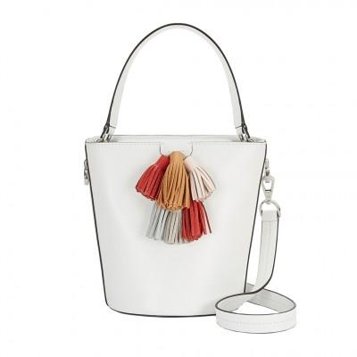Rebecca Minkoff Sofia Top Handle Bucket Bag in Optic White