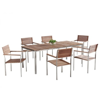 Teak Outdoor Patio Dining Set for 6