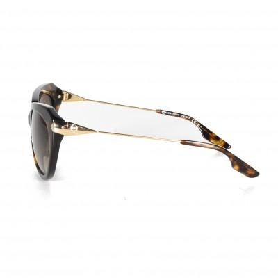 Alexander McQueen 0006 3GC Havana and Yellow Gold 0006S Cats Eyes Sunglasses