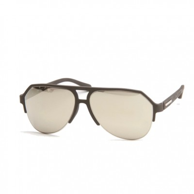 Dolce & Gabbana UniSex Black Semi Rimless Sunglasses With Silver Mirror Lens ODG 2130 11816G