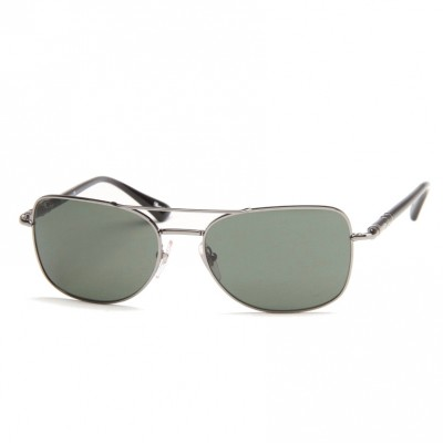 PerSol Mens navy Sunglasses With Brown Arms PO2420S 1044/71