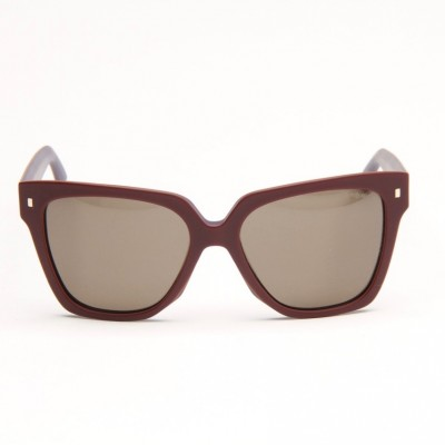 Burgundy Sunglasses With Brown Lens
