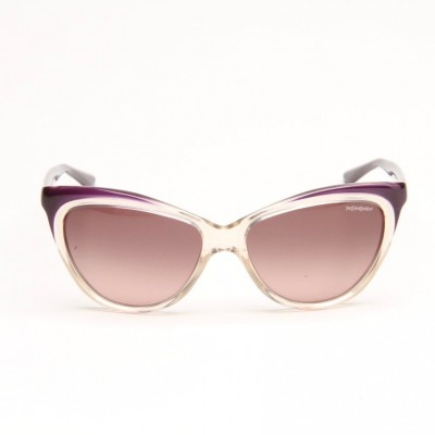 Beige And Mauve Sunglasses With Mauve Shaded Lens