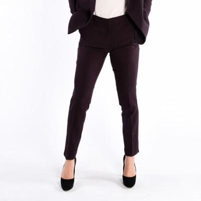 Slim Fit Jacquard Pant With Front Pleats