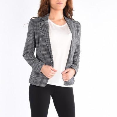 Long Sleeve Tailored Lapel Blazer
