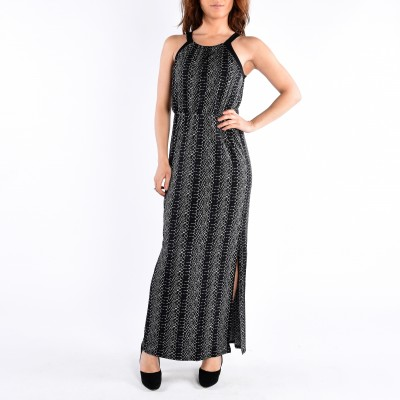 Maxi Printed Dress With Slit