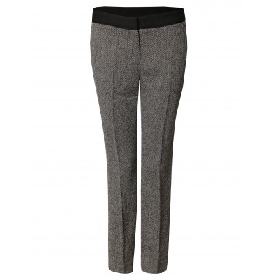 Pencil Jacquard Pant With Front Pockets