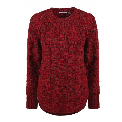 Long Sleeve Knitted Sweater With Longer Back