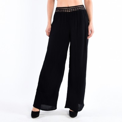 Palazzo Pant With Crochet Wb