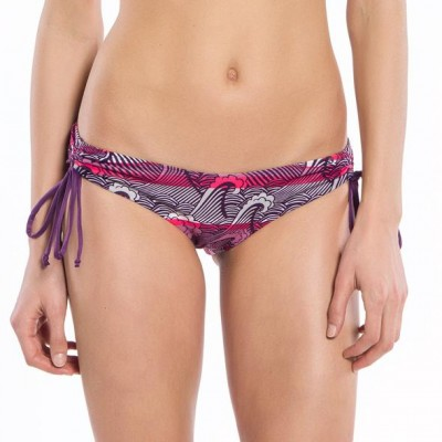 Wave Collection String Ruched Bikini Bottoms