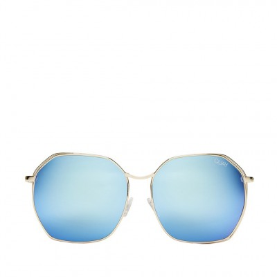 Quay Bae Sunglasses in Gold and Blue