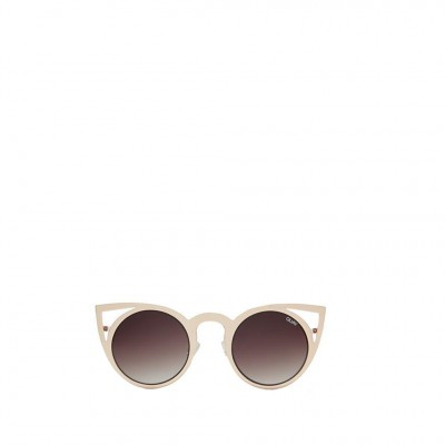 Quay Invader Sunglasses in Gold and Brown