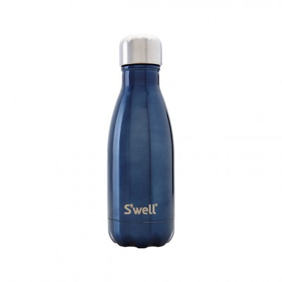 S'well Shimmer Water Bottle in Blue Suede