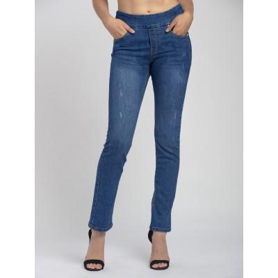 Bluberry Women's Gianna Indigo Slim Leg Denim
