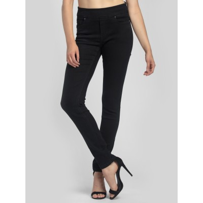 Bluberry Women's Sierra Black Slim Leg Denim