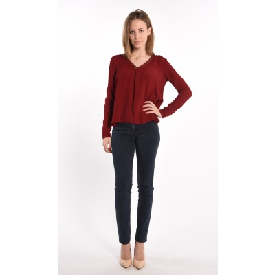 Viscose Blouse In Red