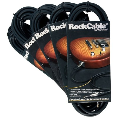 "RockCable 1/4"" 9m/30' Straight Black Guitar/Instrument Cable - 30209D7 - RockCable - RCL 30209 D7"
