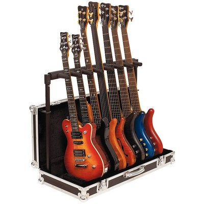 Stand Guitar RockStand for 7 w/Integrated Flight Case - Blac