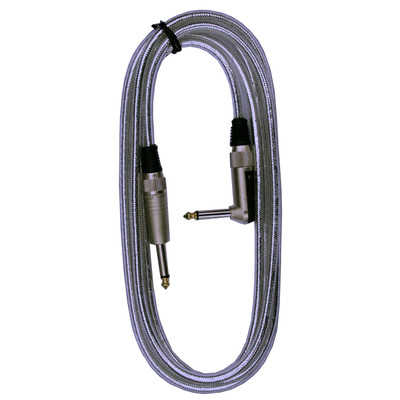 "RockCable RCL-30203D7S Straight 1/4"" Guitar / Instrument Cable - 3m Silver - RockCable - RCL 30203 D7SIL"
