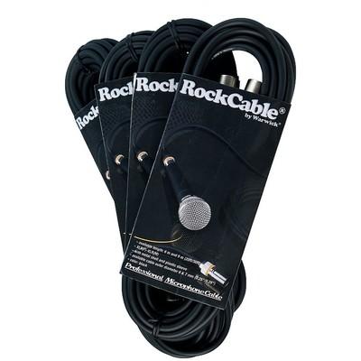Cable Microphone RockCable XLR(F)-XLR(M) 3m/10' w/Clr Rings-