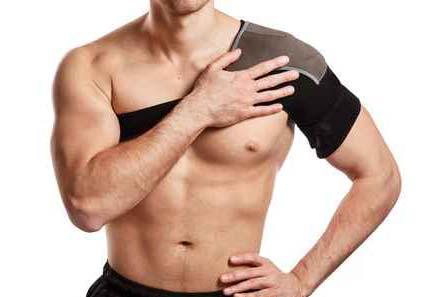 A man wearing a shoulder brace