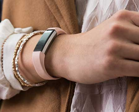 Fitbit Alta on a woman's wrist