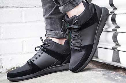 Man wearing Boxfresh sneaker shoes