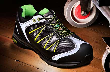 A non-slip work safety sneaker shoe