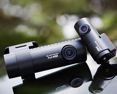 A Blackvue dashboard camera