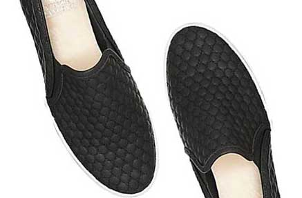 A pair of black casual shoes